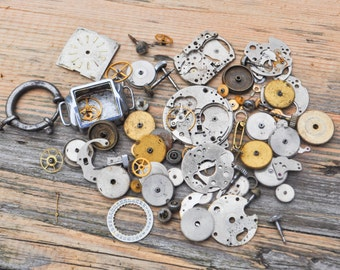 Vintage wrist watch parts to use in your artwork.