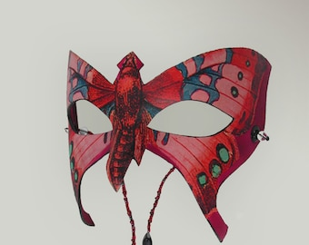 """Leather Butterfly Mask """"Luna"""""""