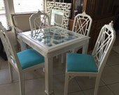 SOLD pagoda chairs and fretwork table