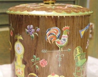 Vintage Daher Design Tin Box Container Made in England