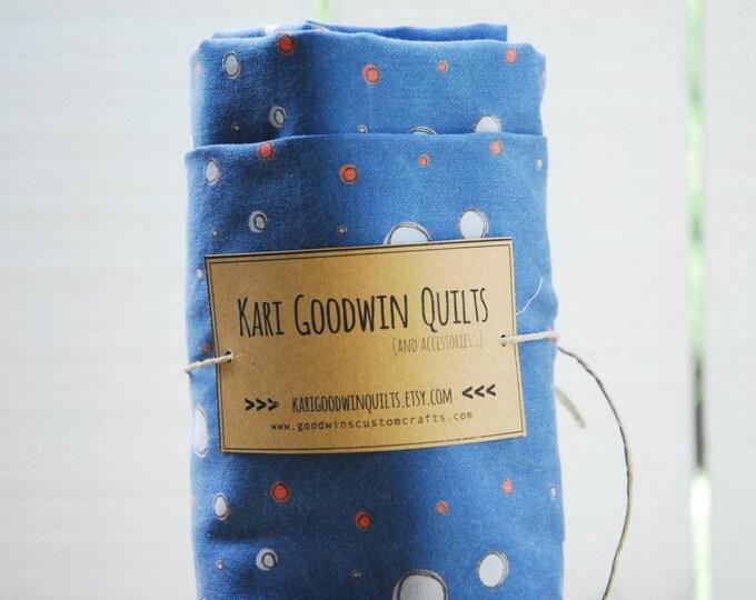 Organic Baby Bedding, Crib Sheet, Changing Pad Cover - Navy Constellation Dot