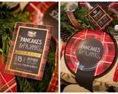 Pancakes and Pajamas invitation, Printable Pancakes invite, Christmas Pancakes and Pajamas invitation