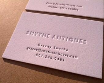 Sample Business Card // Letterpress Business Card