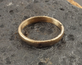 Authentic Ancient Viking Wedding Band Jewelry C.866-1067A.D. Size 10 1/4  (20mm)(BRz130)