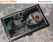 ON SALE Metal Business Card Holder made from Upcycled Katana Comic Book Artwork