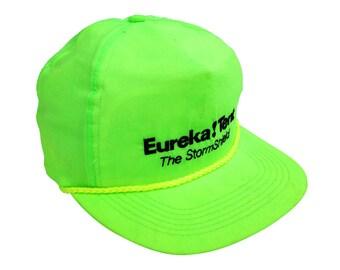 Rad 80s Neon Eureka! Tent Vacuum Snapback Cap