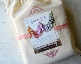 DIY Wanderlust Garland Kit. DIY Torn Fabric Garland. Wedding Garland. Shower Decorations. Wedding Backdrop. Nursery Decor. Baby Girl Nursery