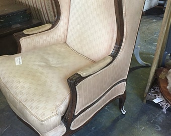 White Wingback Arm Chair