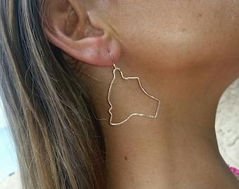 Gold filledBig Island earrings