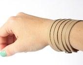Leather Bracelet / Original Sliced Cuff / Windsor / #077