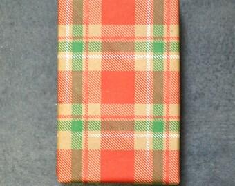 SALE - Christmas Plaid Holiday Wrapping Paper // Christmas Wrapping Paper // Country Christmas // Masculine Christmas // Rustic Christmas