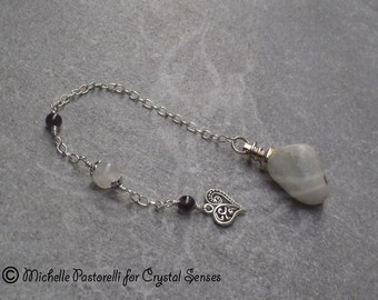 Love Moonstone Dowsing Pendulum (DP0210)