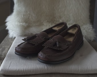 Men's Sperry Top-Sider, Full-Grained Brown Leather Loafer, Size 11.5