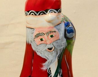 Special Order for DIANE Cypress Knee Santa Hand-painted Santa Figurine Christmas Decoration Gift Santa Collector