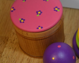 Babies First Puzzle Montessori Object Performance Game Wood Sensory Toy Ball and Box