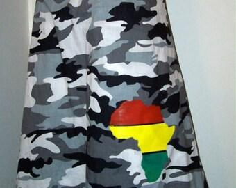 Rasta Skirt Africa Print Reggae Vibes