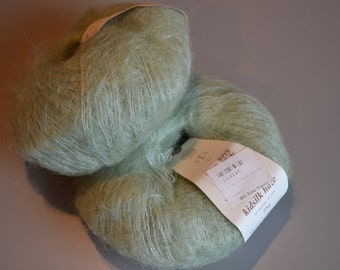 2 skeins Rowan Kidsilk Haze yarn Color 581 light green  CW