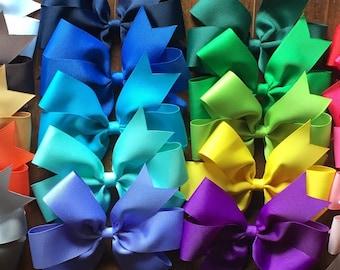 10 Bows, Baby Bows, Cheap Bows, Small Bows, Newborn Bows, Toddler Bows, Baby Shower Gift, Bow Set, Hairbows, Hair Bows, Pinwheel Bows