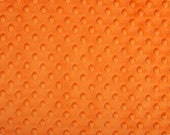 Orange Dimple Minky From Shannon Fabrics