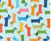 Spring Dachshunds from Robert Kaufman's Urban Zoologie Collection by Ann Kelle