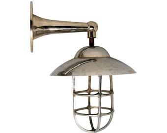 Nautical sconce with shade