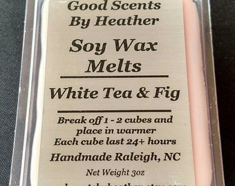 White Tea & Fig 3oz Soy Tarts - Wickless Candles - Wax Melts -Teacher Gift - Hostess Gift