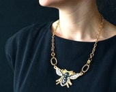 porcelain wasp necklace with gold lustre, FREE Shipping within the UK