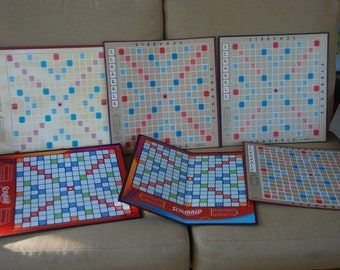 Scrabble Boards for craft projects