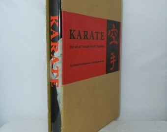 Collectible Hardcover Book Karate The Art of Empty Hand Fighting With Dustjacket and Slipcase 1966 Martial Arts Book DanPickedMinerals