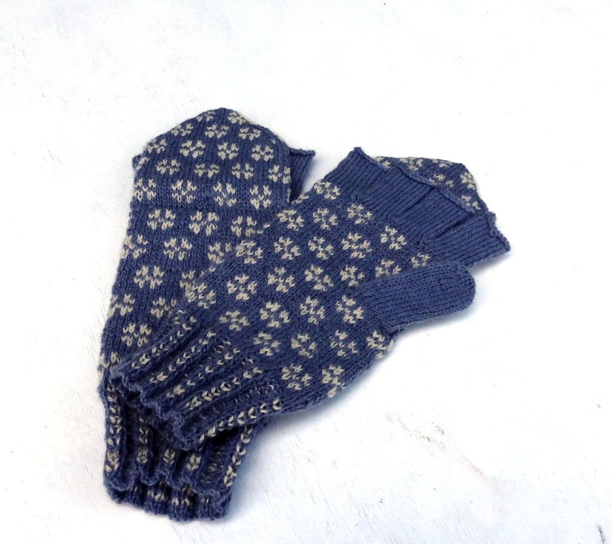Convertible Mitten Knitting Pattern : hand knitted convertible mittens hand by peonijahandmadeshop