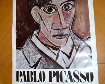 Vintage 80's MOMA Picasso art poster This was to celebrate 50 years of Museum of modern art