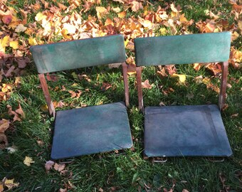 Industrial metal with wood drop leaf typing typewriter table - Enamel Top Table Vintage Kitchen Table