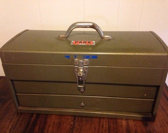 Vintage Machinist Chest • Vintage Tool Box with drawers • vintage Park tool chest