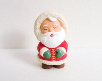 Vintage Miniature Hallmark Santa - Merry Miniature Eskimo Santa Figurine - Miniature Christmas Decoration - Wreath Supply - Dollhouse Santa