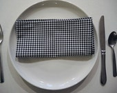 Houndstooth Napkins Black and White