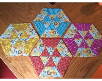 Hex snack mats (Set of 4)
