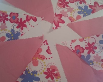 Bright flower bunting