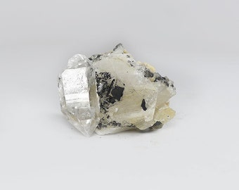 Herkimer Diamond, Herkimer Diamond in Calcite, Natural Herkimer Crystal, Healing Crystal