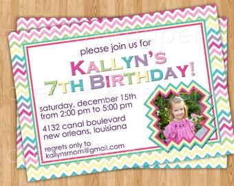 Chevron Birthday Invitation
