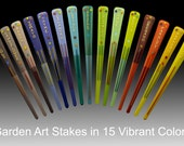 Custom Order GARDEN ART STAKES Add Color and Flair to your Garden!