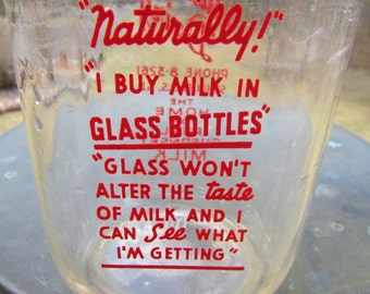 Vintage Glass Guernsey Dairy Milk Bottle