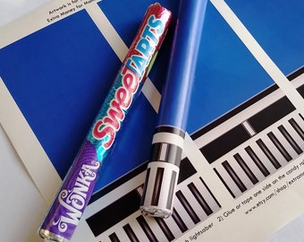 Star Wars Blue Lightsaber Candy - Printable Artwork