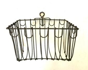 Vintage metal wire basket