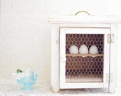 Vintage Egg Crate with Door - Cottage Chic - French Farmhouse - Made in England