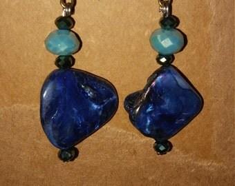 Shell bead earrings
