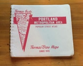Original Vintage Portland Metropolitan Area Map Maps Portland Vancouver Washington Rare Thomas Bros Maps Since 1915 Free Ship