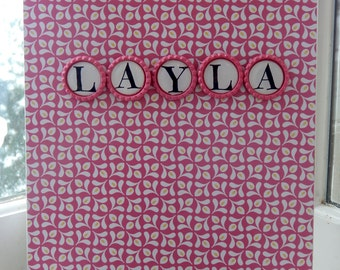 Personalized 8 1/2 x 11 Pink Sketchpad