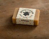 Organic Lemon with Lemongrass Goat Milk Soap from Hand Milked Goats that Graze on Organically Managed Pasture