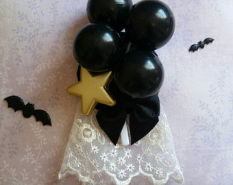 Deathday Balloons Star Badge ( Creepy Cute, Gothic Lolita )