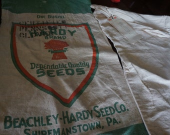 2 vintage seed sacks/bags -one from 1965